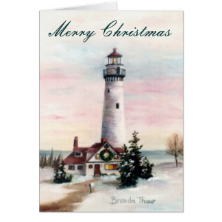 Christmas Light Christmas Card Blank Card