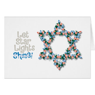Christmas Light Hanukkah Card