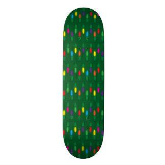 Christmas Light Pattern Green Skateboards