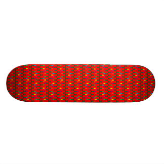 Christmas Light Pattern Red 18.1 Cm Old School Skateboard Deck