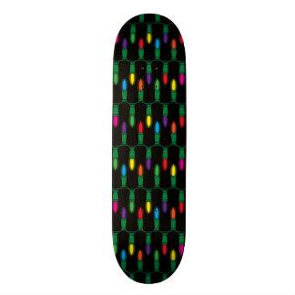 Christmas Light Pattern Skate Decks
