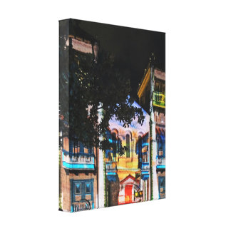 Christmas Light Show in Medellin Colombia Gallery Wrap Canvas