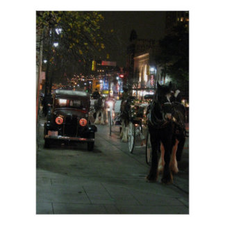 Christmas Lights 2008 - Downtown Poster