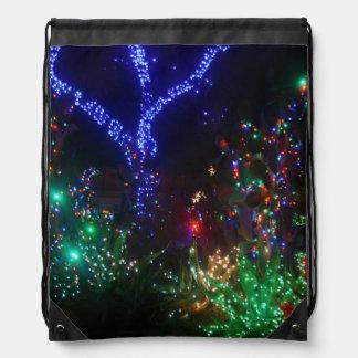 CHRISTMAS LIGHTS 2 DRAWSTRING BAG
