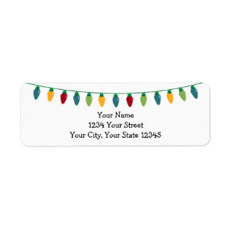 Christmas Lights Address Label #HolidayZ