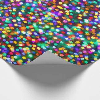 Christmas Lights Birthday Wishes Wrapping Paper