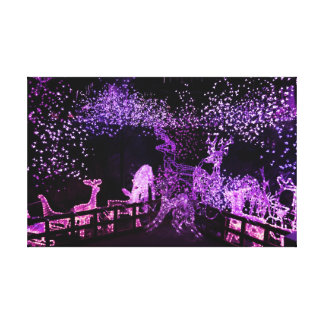 Christmas Lights Stretched Canvas Prints
