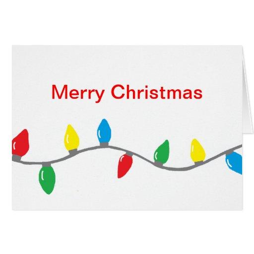 """""""Christmas Lights"""" Card"""