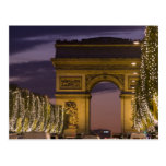 Christmas lights, Champs Elysees, Arc de Postcards