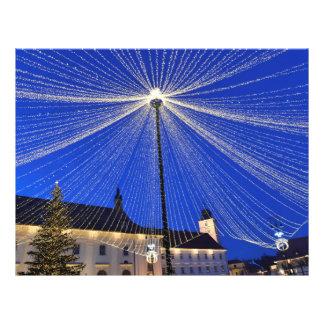 Christmas lights curtain in Sibiu, Romania Flyer
