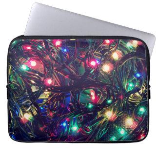 Christmas Lights Fancy Laptop Sleeve