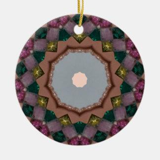 Christmas Lights Fractal Christmas Ornament
