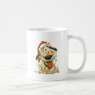 Christmas Lights Funny Puppy Dog Coffee Mug