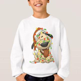 Christmas Lights Funny Puppy Dog Sweatshirt