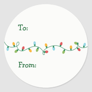 Christmas Lights Gift Sticker #HolidayZ