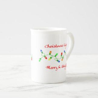 Christmas Lights Merry & Bright China Coffee Mug Bone China Mug