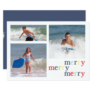 Christmas lights MULTI Double Sided Card