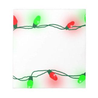 Christmas Lights Notepad