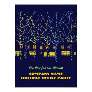 Christmas Lights Office Party Invitations