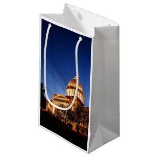 Christmas lights on the Capitol, Little Rock Small Gift Bag