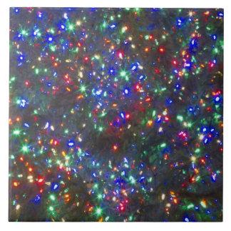 Christmas lights, Portland, Oregon Large Square Tile