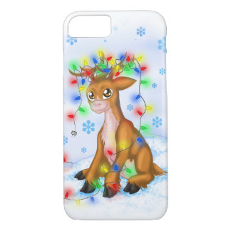 Christmas Lights Reindeer iPhone 8/7 Case