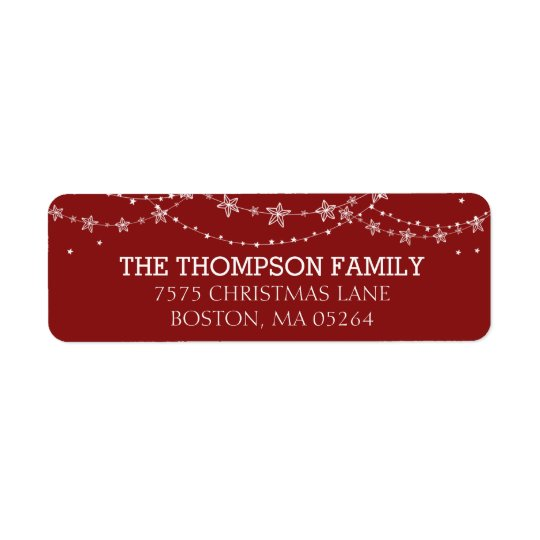 Christmas Lights | Return Address Label