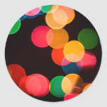 Christmas Lights Round Stickers