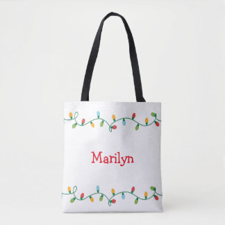 Christmas Lights Tote Bag #HolidayZ