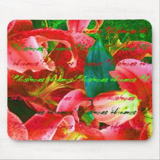 Christmas Lilies Mousepad Mouse Pad