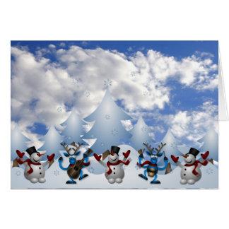 Christmas Line Dance Greeting Card