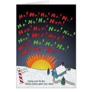 Christmas List Card