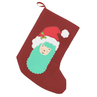 Christmas Llama Emoji Stocking