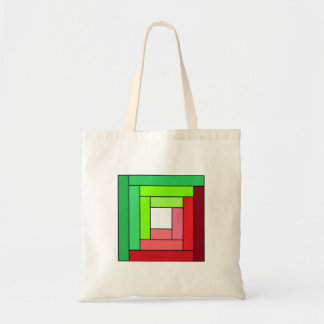 Christmas Log Cabin Budget Tote Bag
