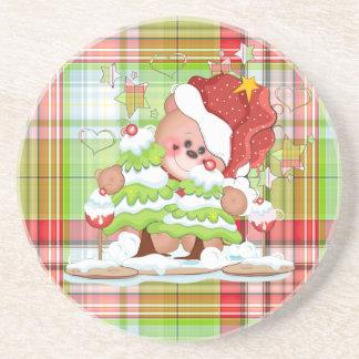 Christmas Lollipop Beverage Coaster