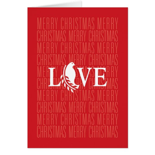 Christmas Love Dove Olive Branch Card