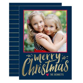 Christmas Love EDITABLE COLOR Holiday Photo Card