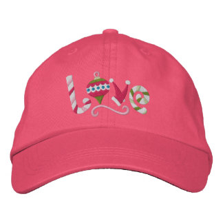 Christmas Love Embroidered Hats