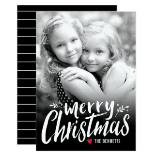 Christmas Love Holiday Photo Card White