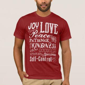 Christmas Love Joy Fruit of the Spirit Typography T-Shirt