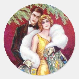 Christmas Love Round Sticker