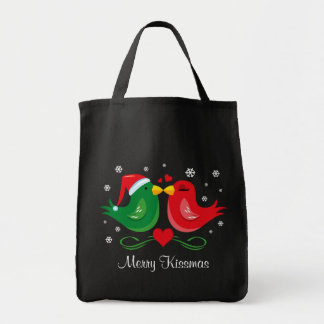 Christmas Lovebirds Personalized Bag