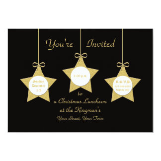 Christmas Luncheon  Invitation Christmas Stars