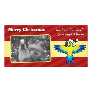 Christmas Macaw / Parrot Customized Photo Card