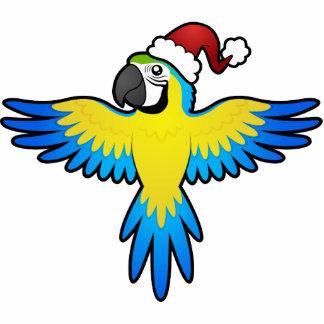 Christmas Macaw / Parrot Photo Sculpture Decoration