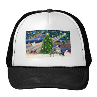 Christmas Magic Australian Cattle Dogs (two) Cap