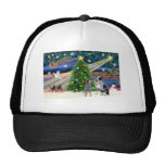Christmas Magic Australian Cattle Dogs (two) Mesh Hats