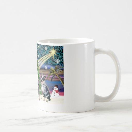 Christmas Magic Australian Cattle Dogs (two) Coffee Mug