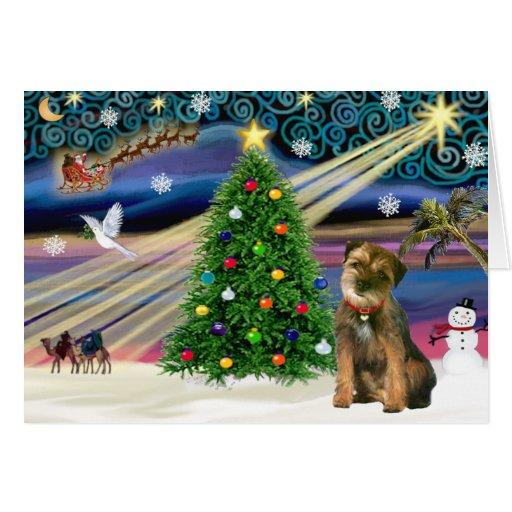 Christmas Magic Border Terrier Cards