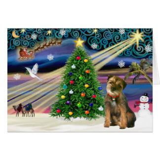 Christmas Magic Border Terrier Greeting Card